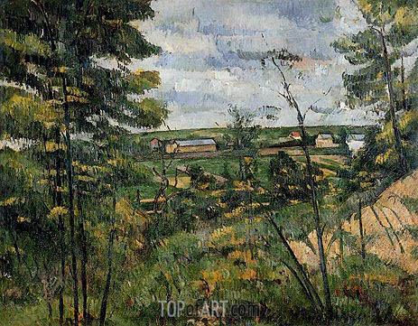 The Oise Valley, c.1880 | Cezanne | Painting Reproduction