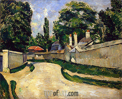 Houses along a Road, c.1881 | Cezanne | Painting Reproduction
