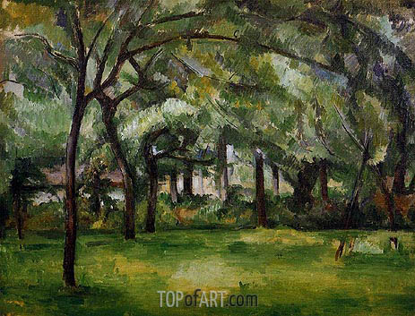 Farm in Normandy, Summer (Hattenville), 1882 | Cezanne | Painting Reproduction