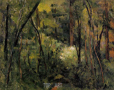 In the Woods, c.1885 | Cezanne | Painting Reproduction
