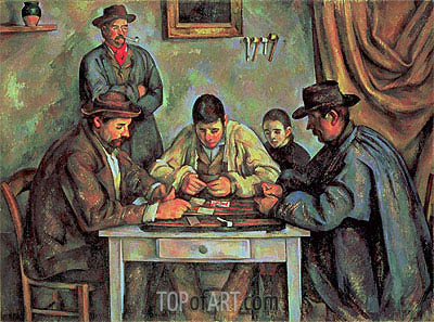 The Card Players, c.1890/92 | Cezanne | Painting Reproduction