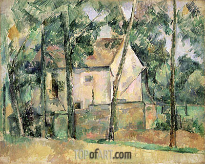 House and Trees, c.1890/94 | Cezanne | Painting Reproduction