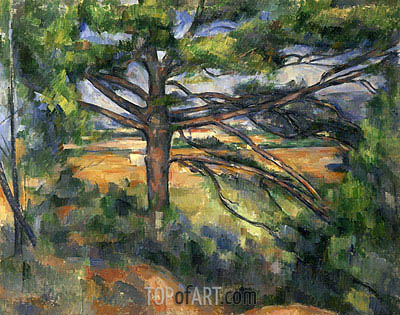 Great Pine near Aix, c.1895/97 | Cezanne | Painting Reproduction