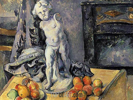 Still Life with Plaster Cupid, c.1894/95 | Cezanne | Painting Reproduction