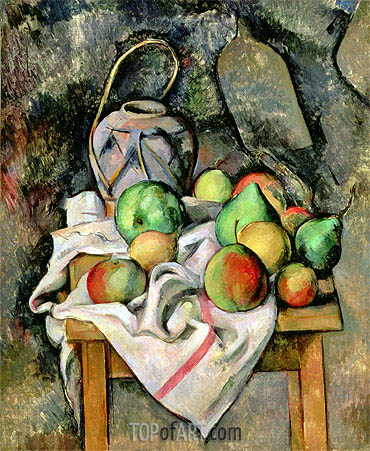 Ginger Jar and Fruit, 1895 | Cezanne | Painting Reproduction