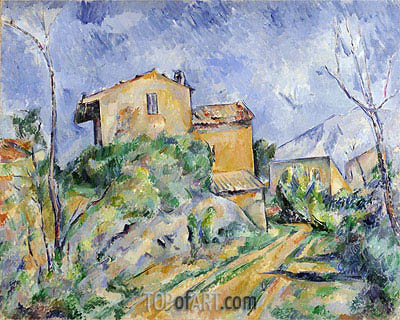 Maison Maria with a View of Chateau Noir, c.1895 | Cezanne | Painting Reproduction