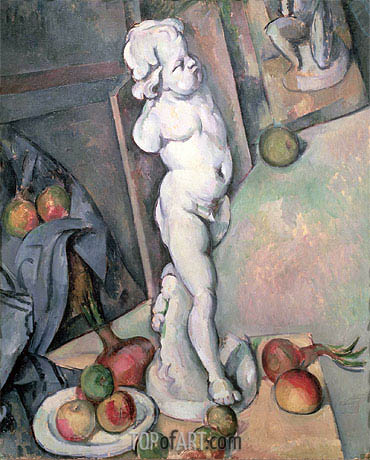Still Life with Plaster Cupid, c.1894 | Cezanne | Painting Reproduction