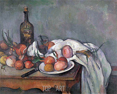 Still Life with Onions, c.1895 | Cezanne | Painting Reproduction
