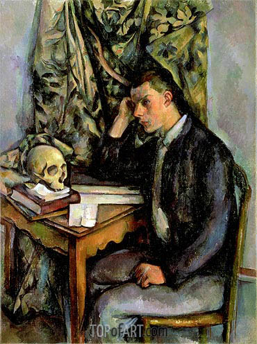 Boy with Skull, c.1896/98 | Cezanne | Painting Reproduction