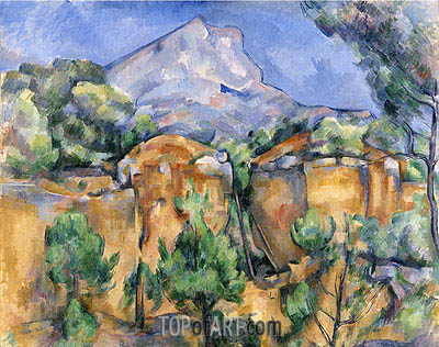 Mont Sainte-Victoire Seen from the Bibemus Quarry, c.1897 | Cezanne | Painting Reproduction