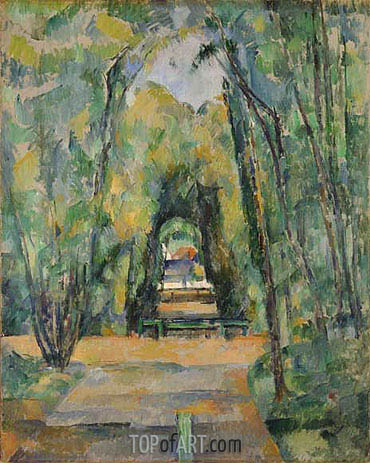 Avenue at Chantilly, 1888 | Cezanne | Painting Reproduction
