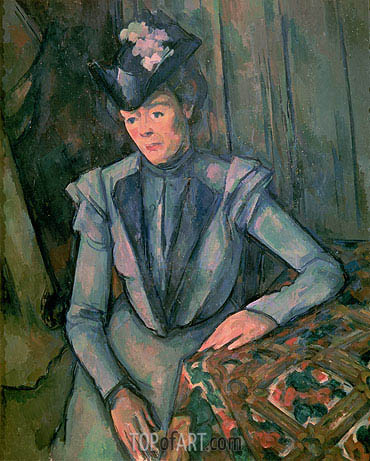Woman in Blue (Madame Cezanne), c.1900/02 | Cezanne | Gemälde Reproduktion