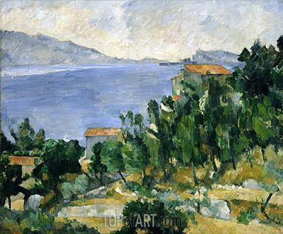 View of Mount Mareseilleveyre and the Isle of Maire, c.1878/82 | Cezanne | Painting Reproduction