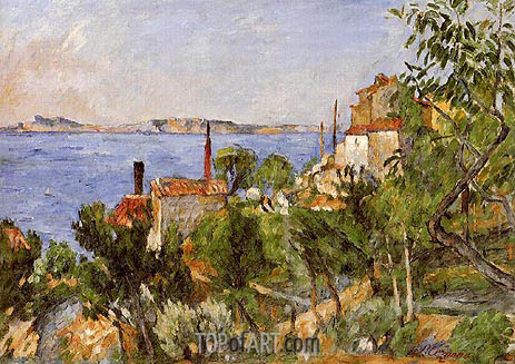 Landscape, Study after Nature, 1876 | Cezanne | Painting Reproduction