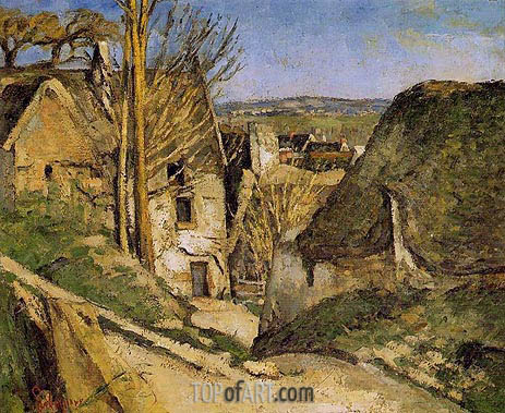 House of the Hanged Man, Auvers-sur-Oise, 1873 | Cezanne | Painting Reproduction