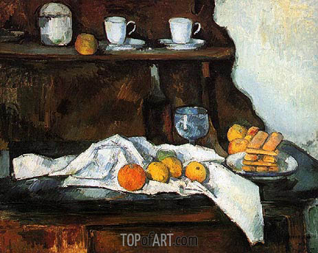 The Buffet, c.1873/77 | Cezanne | Painting Reproduction