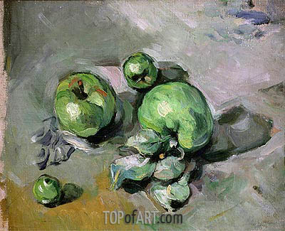 Green Apples, c.1872/73 | Cezanne | Painting Reproduction