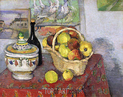 Still Life with Soup Tureen, c.1877 | Cezanne | Painting Reproduction