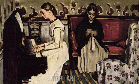 Girl at the Piano (The Overture to Tannhauser), c.1868 | Cezanne | Painting Reproduction