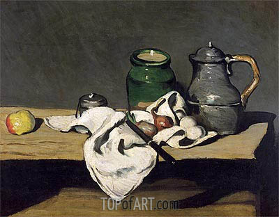 Still Life with a Kettle, c.1869 | Cezanne | Painting Reproduction