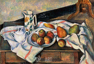 Peaches and Pears, c.1888/90 | Cezanne | Painting Reproduction