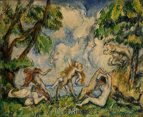 The Battle of Love, c.1880 | Cezanne | Painting Reproduction