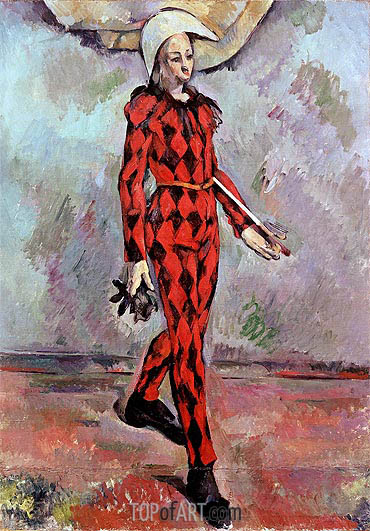 Harlequin, 1890 | Cezanne | Painting Reproduction