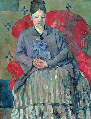 Madame Cezanne in a Red Armchair, c.1877 | Cezanne | Painting Reproduction