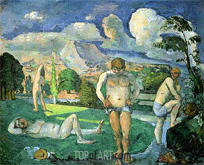 Bathers at Rest, c.1875/76 | Cezanne | Painting Reproduction