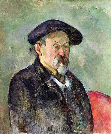 Self Portrait with a Beret, c.1898/99 | Cezanne | Painting Reproduction