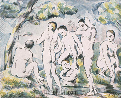Bathers in a Landscape, 1898 | Cezanne | Painting Reproduction