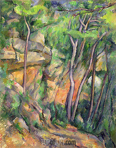 In the Park of Chateau Noir, c.1896/99 | Cezanne | Painting Reproduction