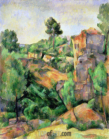 Bibemus Quarry (Carriere de Bibemus), 1898 | Cezanne | Painting Reproduction