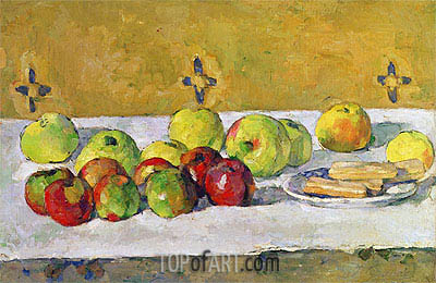 Apples and Biscuits, c.1877 | Cezanne | Painting Reproduction