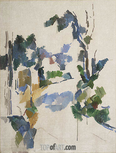 Study of Trees, c.1904 | Cezanne | Painting Reproduction