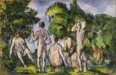 Group of Bathers, c.1895 | Cezanne | Painting Reproduction