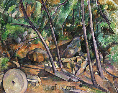 Millstone in the Park of the Chateau Noir, c.1898/00 | Cezanne | Gemälde Reproduktion