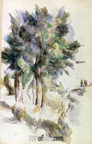 Trees, undated | Cezanne | Painting Reproduction