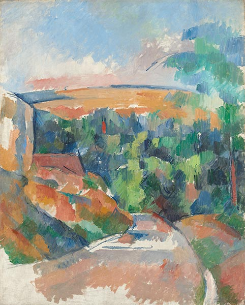 The Bend in the Road, c.1900/06 | Cezanne | Painting Reproduction