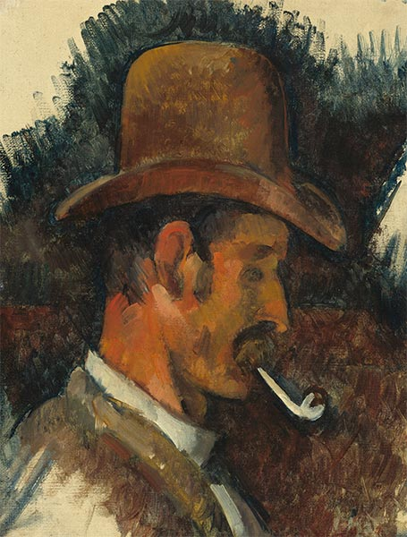 Man with Pipe, c.1892/96 | Cezanne | Painting Reproduction