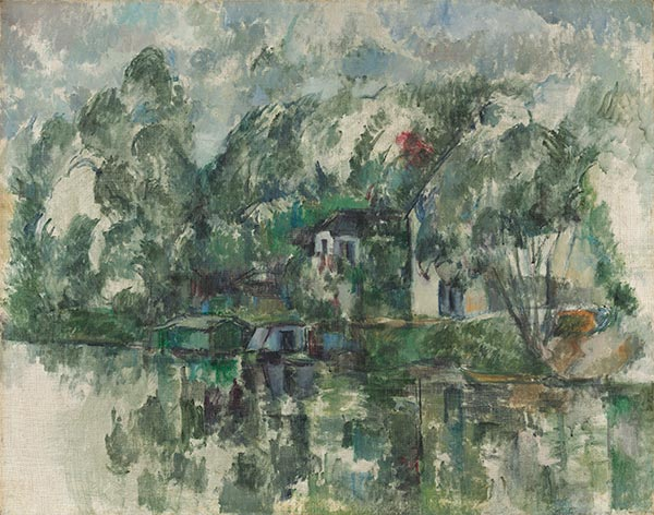 At the Water's Edge, c.1890 | Cezanne | Painting Reproduction
