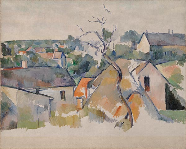 The Rooftops, c.1898   Cezanne   Painting Reproduction