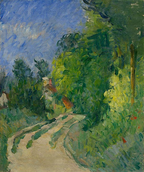 Bend in the Road through the Forest, c.1873/75   Cezanne   Painting Reproduction