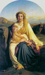 Virgin and Child, 1844 von Paul Delaroche | Gemälde-Reproduktion