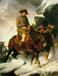 Napoleon Crossing the Alps, 1850 von Paul Delaroche | Gemälde-Reproduktion