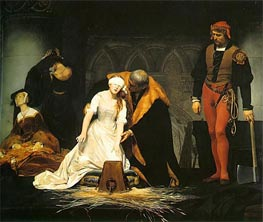 The Execution of Lady Jane Grey, 1833 von Paul Delaroche | Gemälde-Reproduktion