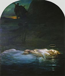 The Young Martyr, 1855 von Paul Delaroche | Gemälde-Reproduktion