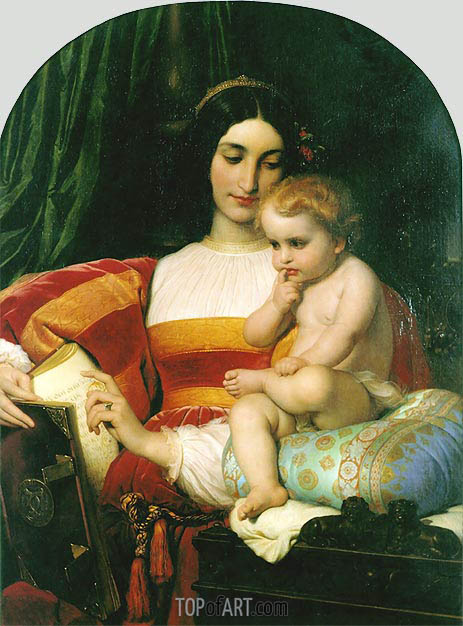 The Childhood of Pico della Mirandola, 1842 | Paul Delaroche | Gemälde Reproduktion