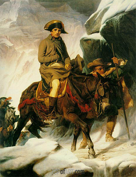 Napoleon Crossing the Alps, 1850 | Paul Delaroche | Gemälde Reproduktion
