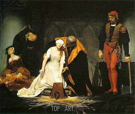 The Execution of Lady Jane Grey, 1833 | Paul Delaroche | Gemälde Reproduktion